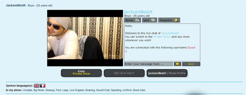 Hunk in sun glasses on adult chat rooms