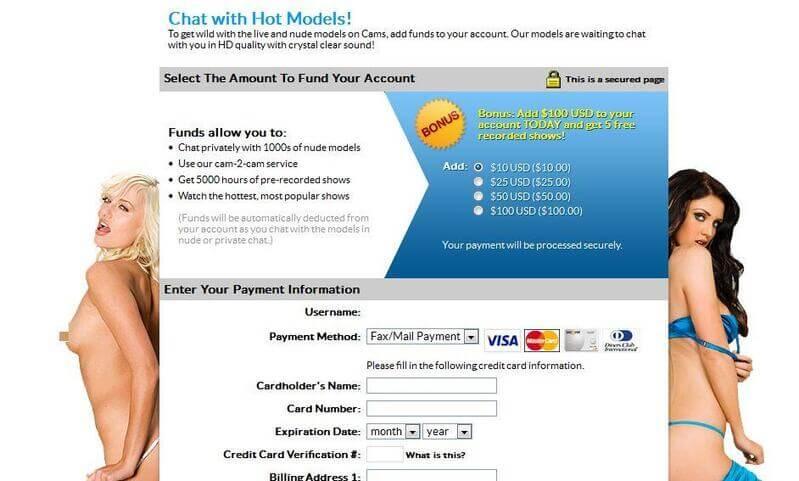 Asian webcam payments