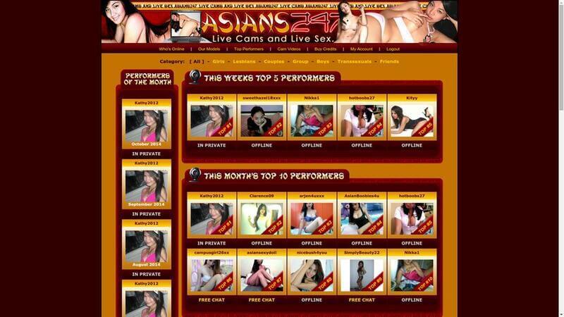 Top models at Asians247.com