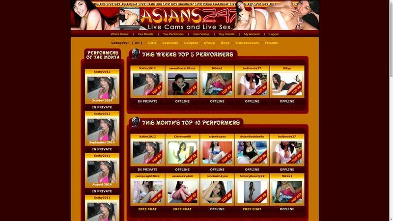 Top models at Asians247.com