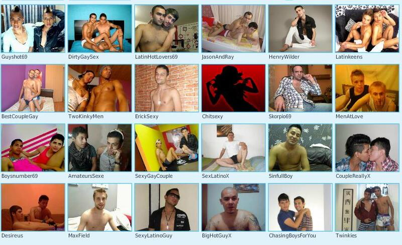 Straight men, gay hunks and homosexual couples on webcam