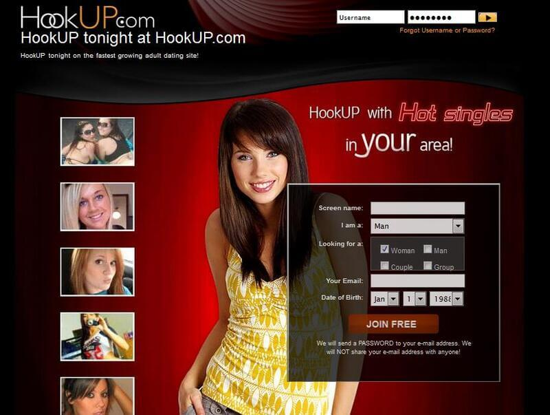 Sign up to Hookup.com